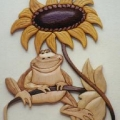 frog-with-sunflower